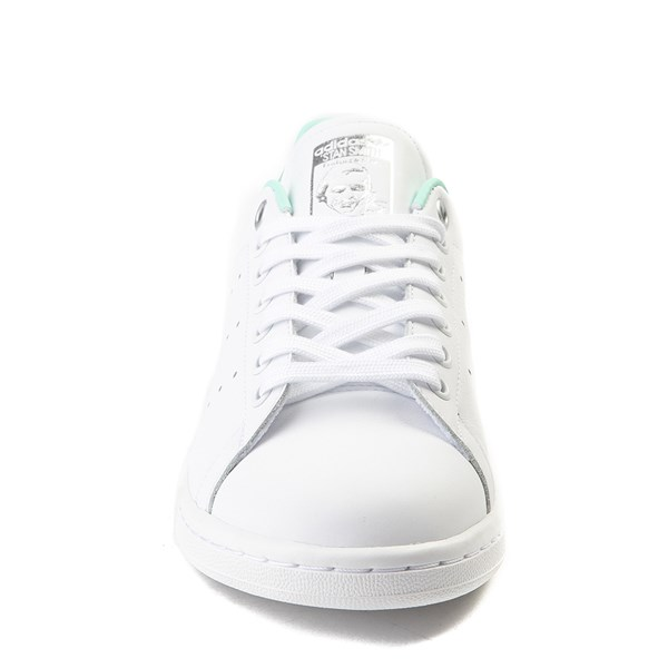 alternate image alternate view Womens adidas Stan Smith Athletic Shoe - White / Mint / SilverALT4
