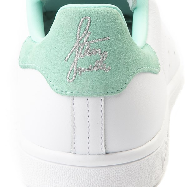 alternate image alternate view Womens adidas Stan Smith Athletic Shoe - White / Mint / SilverALT6
