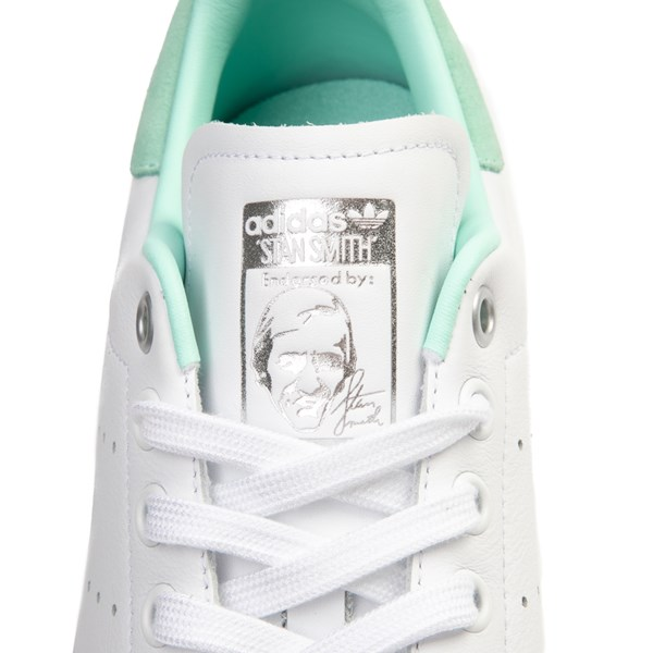 alternate image alternate view Womens adidas Stan Smith Athletic Shoe - White / Mint / SilverALT7