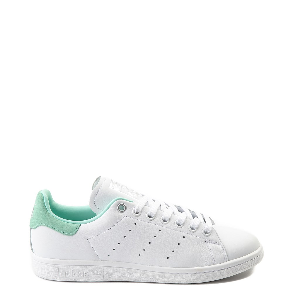 Womens adidas Stan Smith Athletic Shoe - White / Mint / Silver