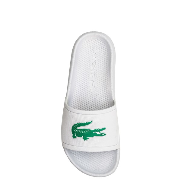 alternate image alternate view Womens Lacoste Croco Slide Sandal - White / GreenALT1