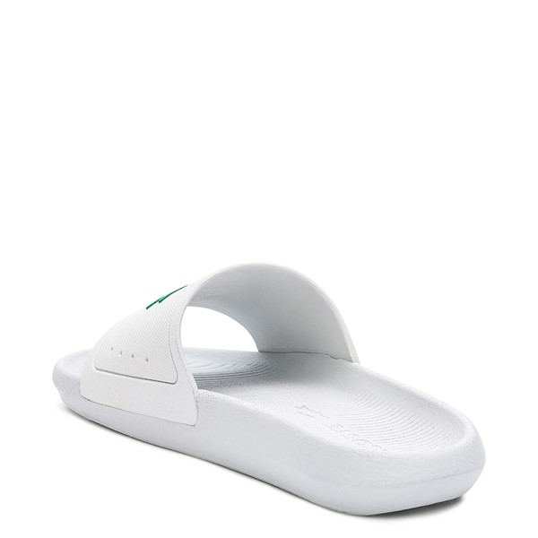 alternate image alternate view Womens Lacoste Croco Slide Sandal - White / GreenALT2