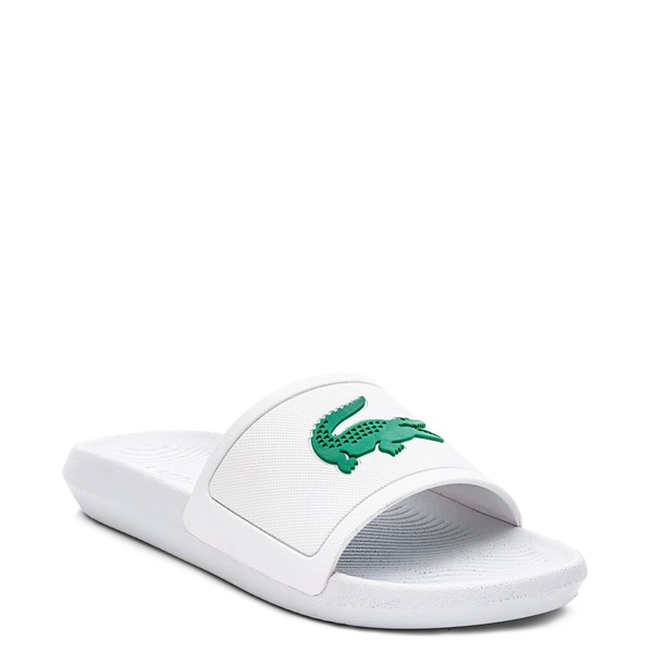 alternate image alternate view Womens Lacoste Croco Slide Sandal - White / GreenALT5