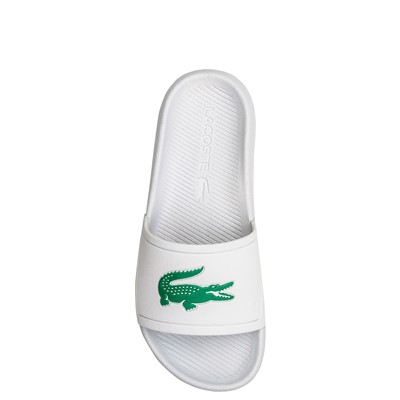 Alternate view of Womens Lacoste Croco Slide Sandal - White / Green