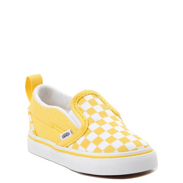 alternate image alternate view Vans Slip On V Chex Skate Shoe - Baby / ToddlerALT1