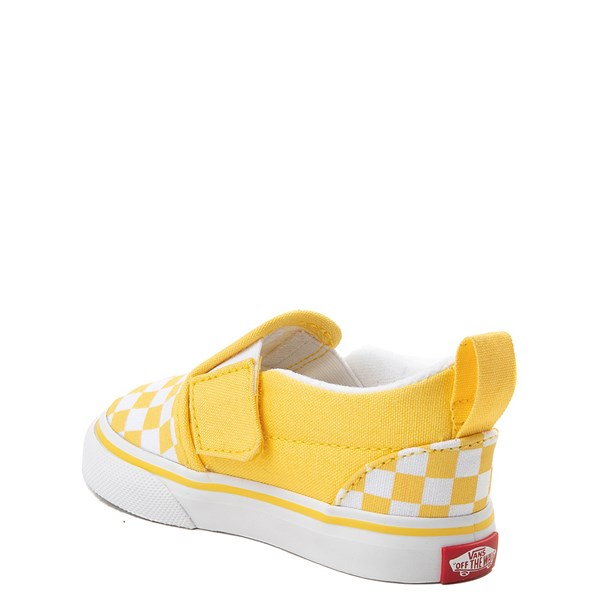 alternate image alternate view Vans Slip On V Chex Skate Shoe - Baby / ToddlerALT2