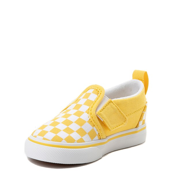 alternate image alternate view Vans Slip On V Chex Skate Shoe - Baby / ToddlerALT3