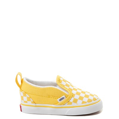 Main view of Vans Slip On V Chex Skate Shoe - Baby / Toddler