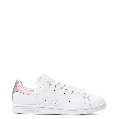 Main view of Womens adidas Stan Smith Athletic Shoe - White / Pink