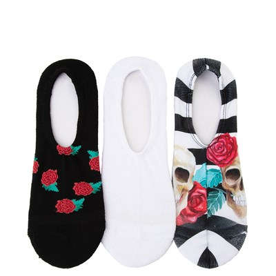 Main view of Womens Converse Skull Roses Liners 3 Pack