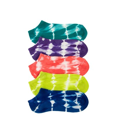 Main view of Womens Tie Dye Low Cut Socks 5 Pack