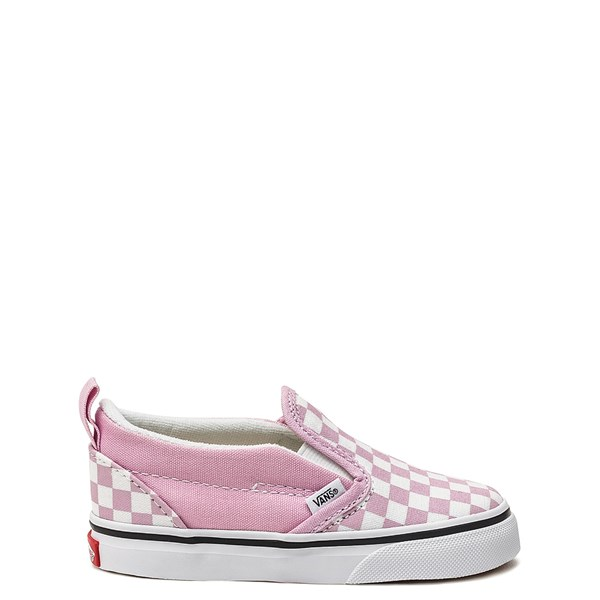 Main view of Vans Slip On Checkerboard Skate Shoe - Baby / Toddler - Lilac Snow
