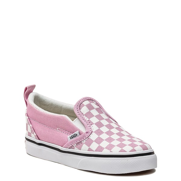 alternate image alternate view Vans Slip On Checkerboard Skate Shoe - Baby / Toddler - Lilac SnowALT1