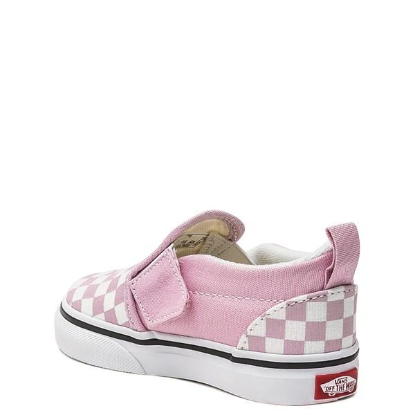 alternate image alternate view Vans Slip On Checkerboard Skate Shoe - Baby / Toddler - Lilac SnowALT2