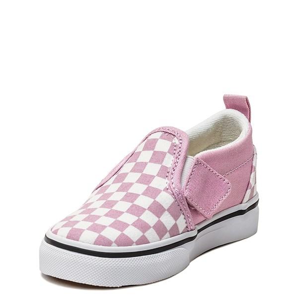 alternate image alternate view Vans Slip On Checkerboard Skate Shoe - Baby / Toddler - Lilac SnowALT3