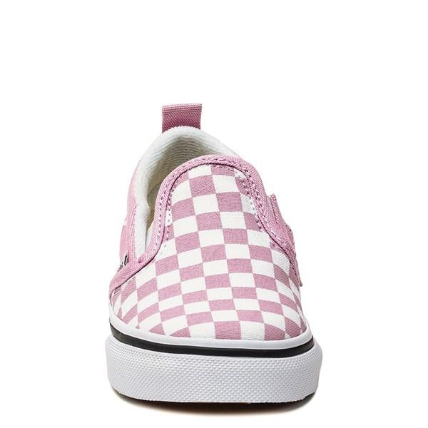 alternate image alternate view Vans Slip On Checkerboard Skate Shoe - Baby / Toddler - Lilac SnowALT4