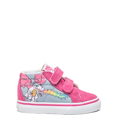 Main view of Vans Sk8 Mid V Rainbow Dragon Skate Shoe - Baby / Toddler