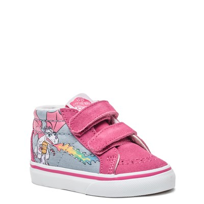 Alternate view of Vans Sk8 Mid V Rainbow Dragon Skate Shoe - Baby / Toddler