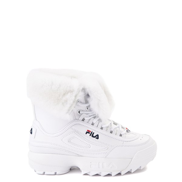 Main view of Fila Disruptor Shearling Boot - Little Kid - White