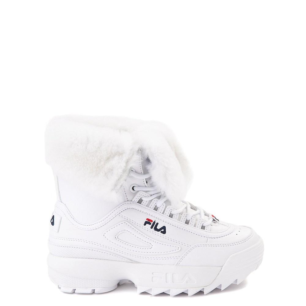 Fila Disruptor Shearling Boot - Little Kid - White