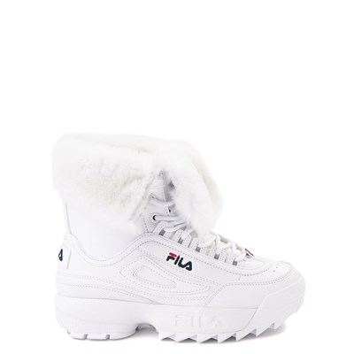 Main view of Fila Disruptor Shearling Boot - Big Kid - White