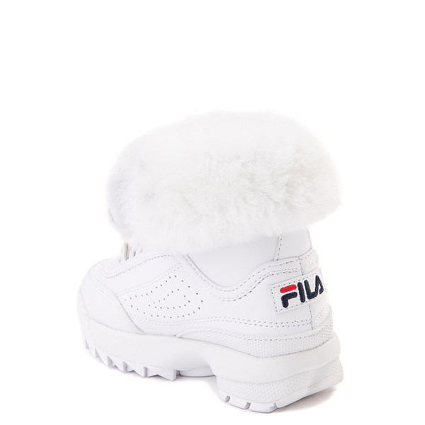 alternate image alternate view Fila Disruptor Shearling Boot - Baby / Toddler - WhiteALT2