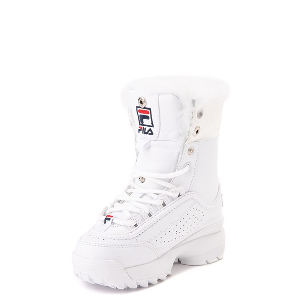 alternate image alternate view Fila Disruptor Shearling Boot - Baby / Toddler - WhiteALT3
