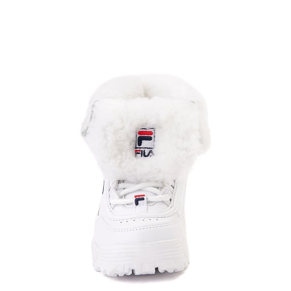 alternate image alternate view Fila Disruptor Shearling Boot - Baby / Toddler - WhiteALT4
