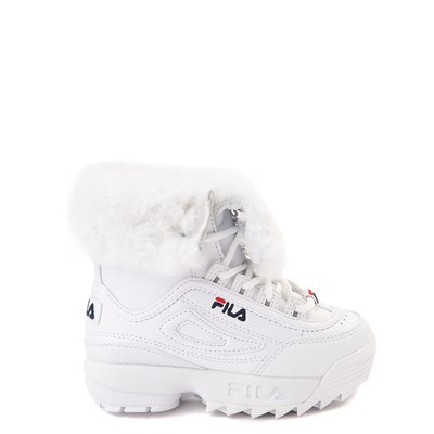 Main view of Fila Disruptor Shearling Boot - Baby / Toddler - White