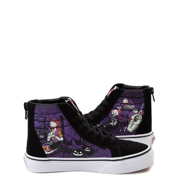 alternate image alternate view Vans x The Nightmare Before Christmas Sk8 Hi Zip Jack's Lament Skate Shoe - Little KidALT1