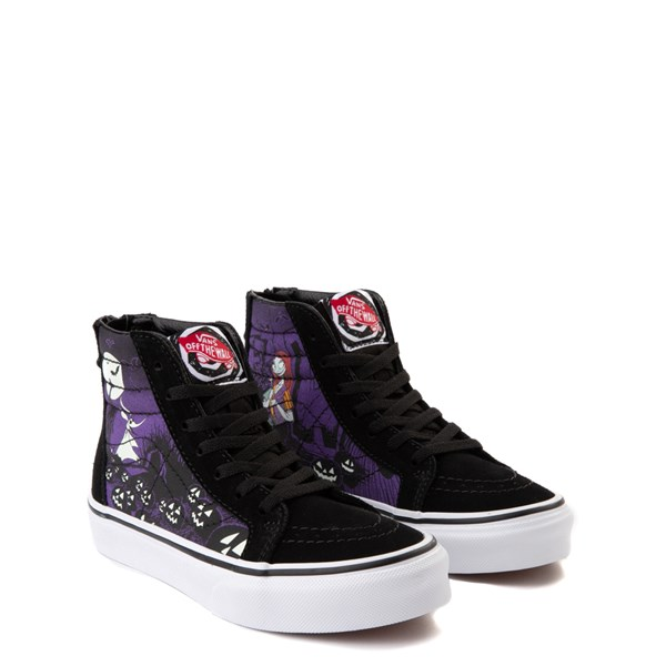 alternate image alternate view Vans x The Nightmare Before Christmas Sk8 Hi Zip Jack's Lament Skate Shoe - Little KidALT1C