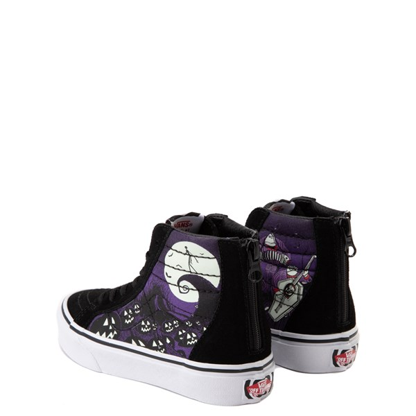 alternate image alternate view Vans x The Nightmare Before Christmas Sk8 Hi Zip Jack's Lament Skate Shoe - Little KidALT2