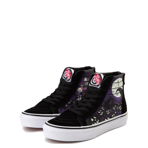 alternate image alternate view Vans x The Nightmare Before Christmas Sk8 Hi Zip Jack's Lament Skate Shoe - Little KidALT3