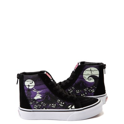 Main view of Vans x The Nightmare Before Christmas Sk8 Hi Zip Jack's Lament Skate Shoe - Little Kid