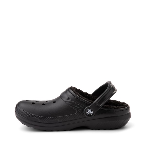 alternate image alternate view Crocs Classic Fuzz-Lined Clog - BlackALT1