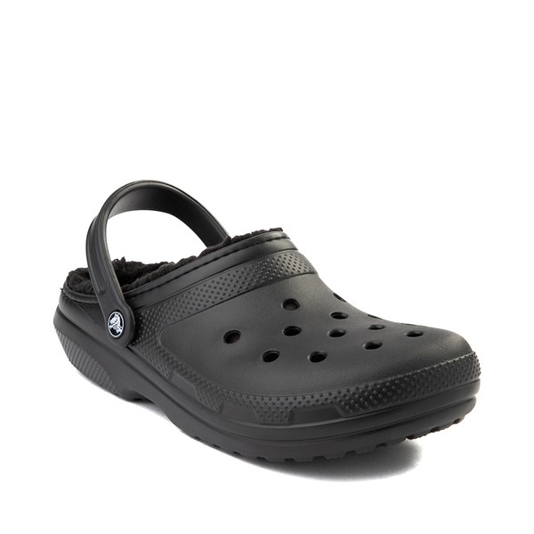 alternate image alternate view Crocs Classic Fuzz-Lined Clog - BlackALT5