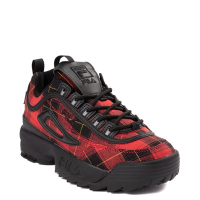Alternate view of Womens Fila Disruptor 2 Premium Athletic Shoe - Black / Red Plaid