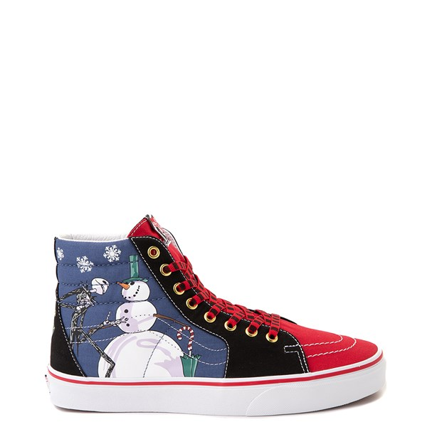 Vans x The Nightmare Before Christmas Sk8 Hi Christmas Town Skate Shoe - Red / Multi