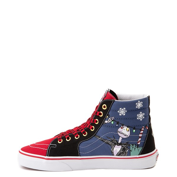 alternate image alternate view Vans x The Nightmare Before Christmas Sk8 Hi Christmas Town Skate Shoe - Red / MultiALT1
