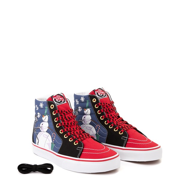 alternate image alternate view Vans x The Nightmare Before Christmas Sk8 Hi Christmas Town Skate Shoe - Red / MultiALT1B