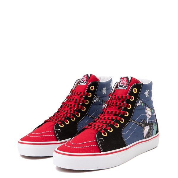 alternate image alternate view Vans x The Nightmare Before Christmas Sk8 Hi Christmas Town Skate Shoe - Red / MultiALT3