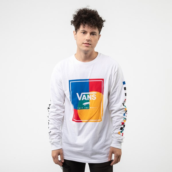 Mens Vans Kalido Color-Block Long Sleeve Tee