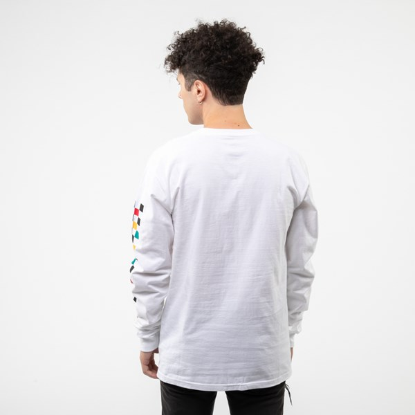 alternate image alternate view Mens Vans Kalido Color-Block Long Sleeve TeeALT1
