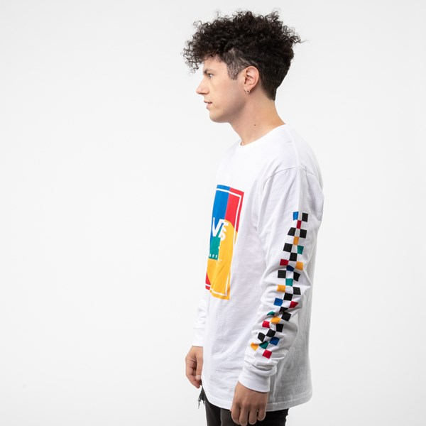 alternate image alternate view Mens Vans Kalido Color-Block Long Sleeve TeeALT2