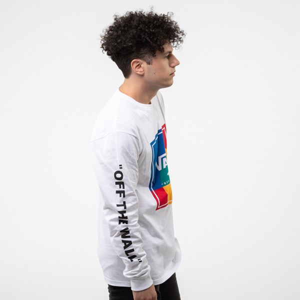 alternate image alternate view Mens Vans Kalido Color-Block Long Sleeve TeeALT3
