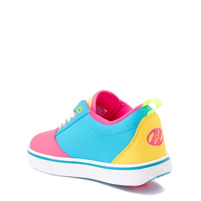 Alternate view of Heelys Gr8 Pro Color-Block Skate Shoe - LIttle Kid / Big Kid - Neon Blue / Pink / Yellow