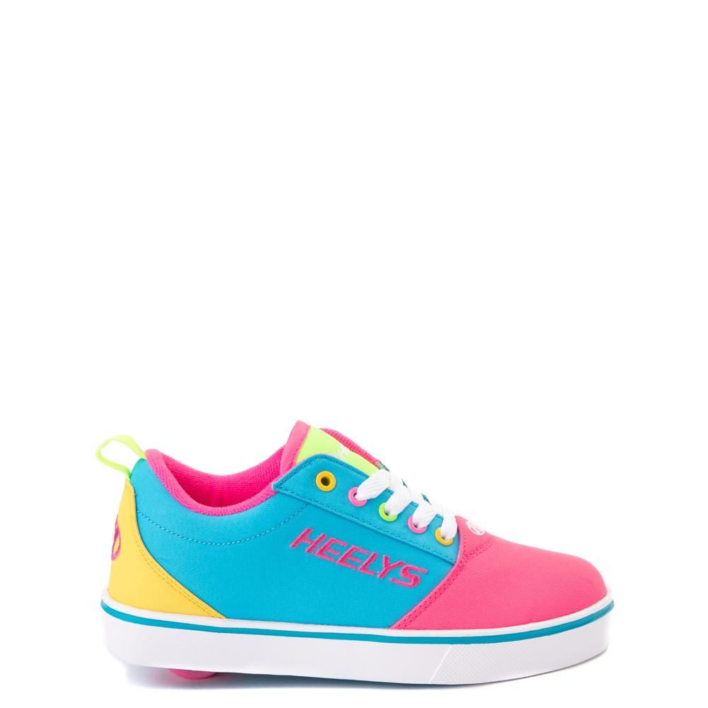 Heelys Gr8 Pro Color-Block Skate Shoe - LIttle Kid / Big Kid - Neon Blue / Pink / Yellow