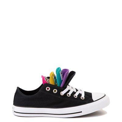 Alternate view of Converse Chuck Taylor All Star Lo Multi Tongue Sneaker - Black / Multi