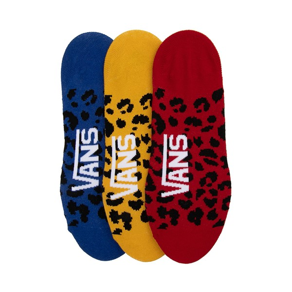 alternate image alternate view Womens Vans Primary Leopard Canoodle Liners 3 Pack - MultiALT1