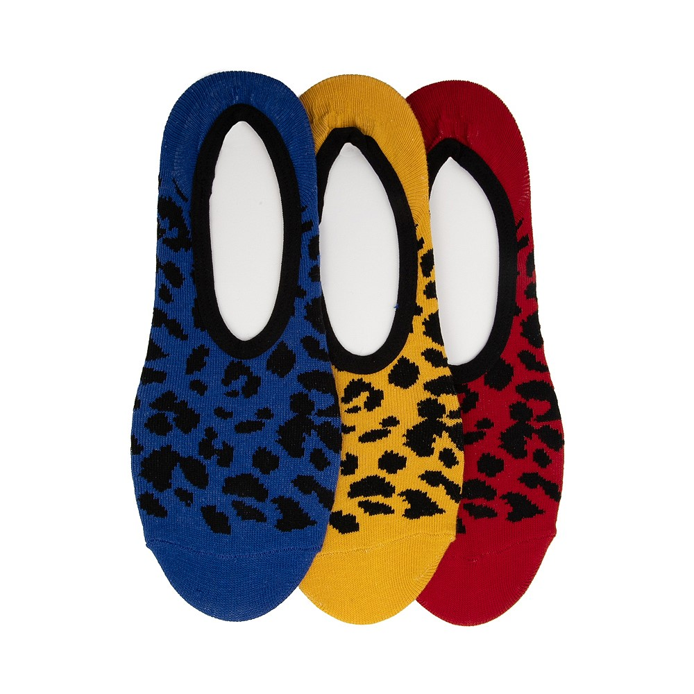 Womens Vans Primary Leopard Canoodle Liners 3 Pack - Multi